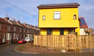 Self build eco-homes under construction in Bristol
