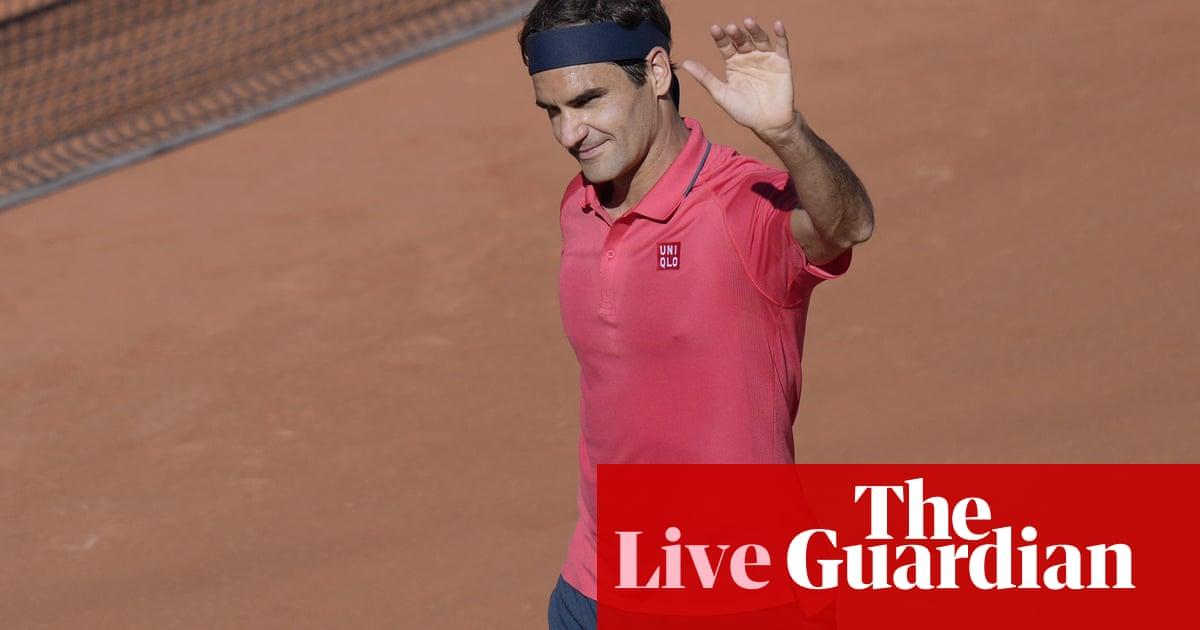 French Open day two: Federer wins, Konta out, Kenin v Ostapenko – live!