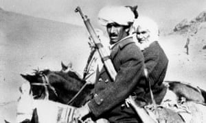 Afghan guerrillas who fought Soviet forces, pictured in 1980.