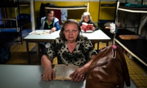 Rafiq Ilona at the Evangelical Brotherhood of Hungary 'Heated Street' shelter.