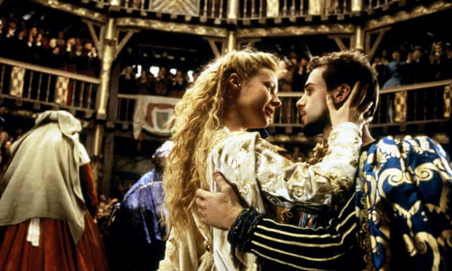 With Gwyneth Paltrow in Shakespeare in Love.