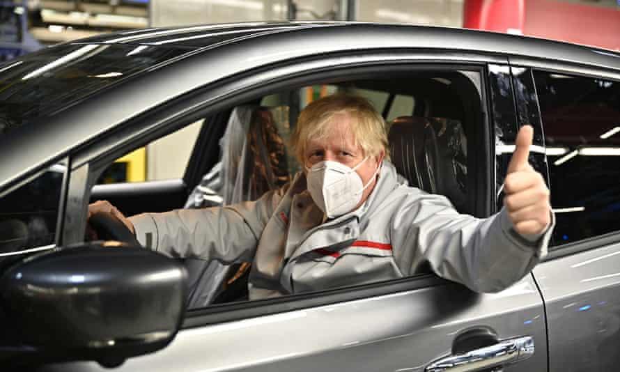 Boris Johnson visits the Nissan plant in Sunderland, England, this year.