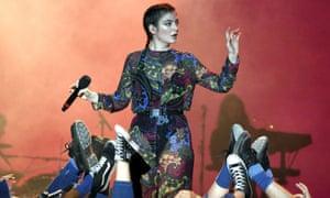 'A gimlet eye': Lorde performing at Bonnaroo festival.Tim Mosenfelder/Getty