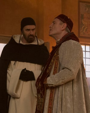Rupert Everett and Tchéky Karyo in The Name of the Rose.