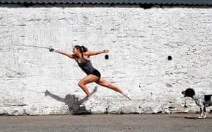Olympian Jo Muir lockdown training at parents' farm in Scotland