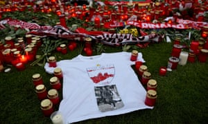 A vigil to remember the former Dinamo Bucharest midfielder Patrick Ekeng, who died while playing for the club, took place in Bucharest on Saturday.
