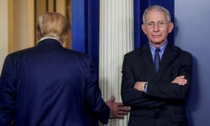 Anthony Fauci, right.