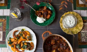Lamb and qunice with roasted squash