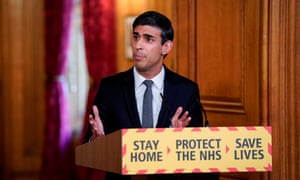 Rishi Sunak speaking during a remote press conference to update the nation on the Covid-19 pandemic.