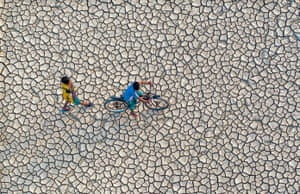 Drought-stricken fields in Bangladesh