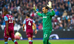 The goalkeeper Roberto Jiménez was brought to West Ham by Mario Husillos but has failed to impress.