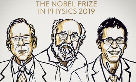 Nobel prize in physics awarded for work on cosmology – as it happened