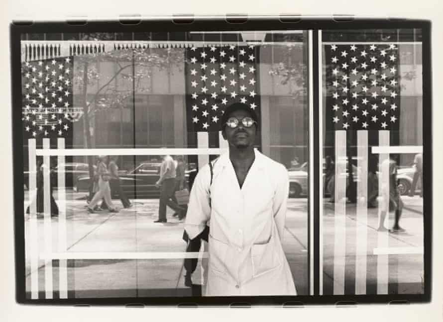 Ming Smith – America seen through Stars and Stripes, New York City, New York, printed ca. 1976.