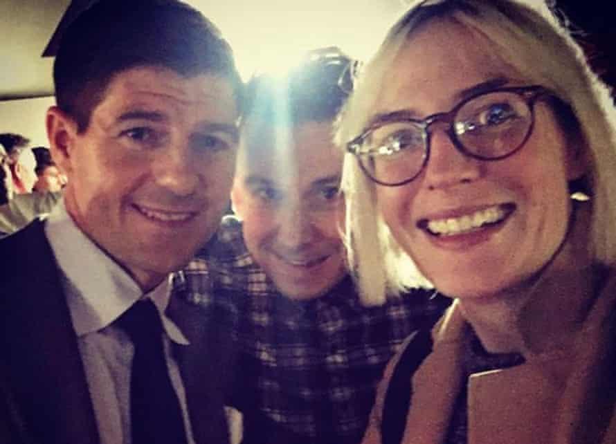 Meeting Steven Gerrard.