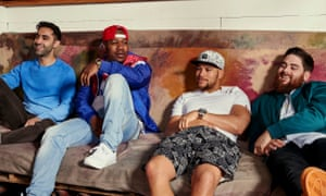 Rudimental … arena-filling dance stars, with Leon Rolle second left.