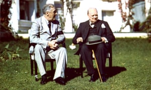 Franklin Roosevelt, left, and Winston Churchill