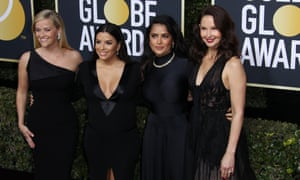 From left: Reese Witherspoon, Eva Longoria, Salma Hayek and Ashley Judd arrive at the awards.