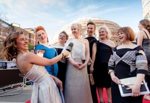 Anita Rani interviews the cast of The Girls on the red carpet