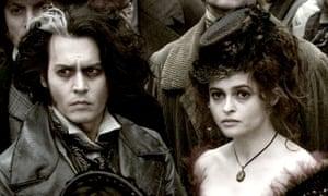 With Johhny Depp in former Husband Tim Burton's film, Sweeney Todd