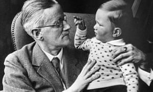 James Joyce with his grandson Stephen in 1934