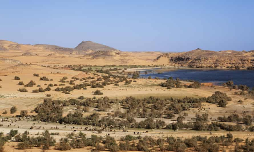 Lake Nasser in Dakka, Egypt.