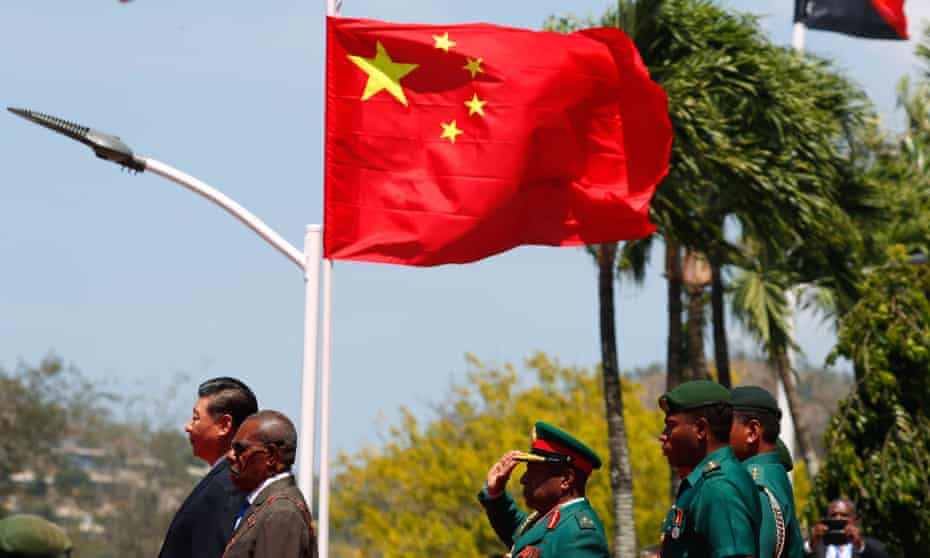 A welcome ceremony for China's President Xi Jinping for Xi's state visit at Parliament House in Port Moresby in November, 2018, ahead of the Asia-Pacific Economic Cooperation (APEC) Summit.