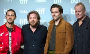 Borg vs McEnroe at Toronto film festival: Shia LaBeouf (McEnroe), the film's director Janus Metz, Sverrir Gudnason (Borg) and Skarsgård (Bergelin).