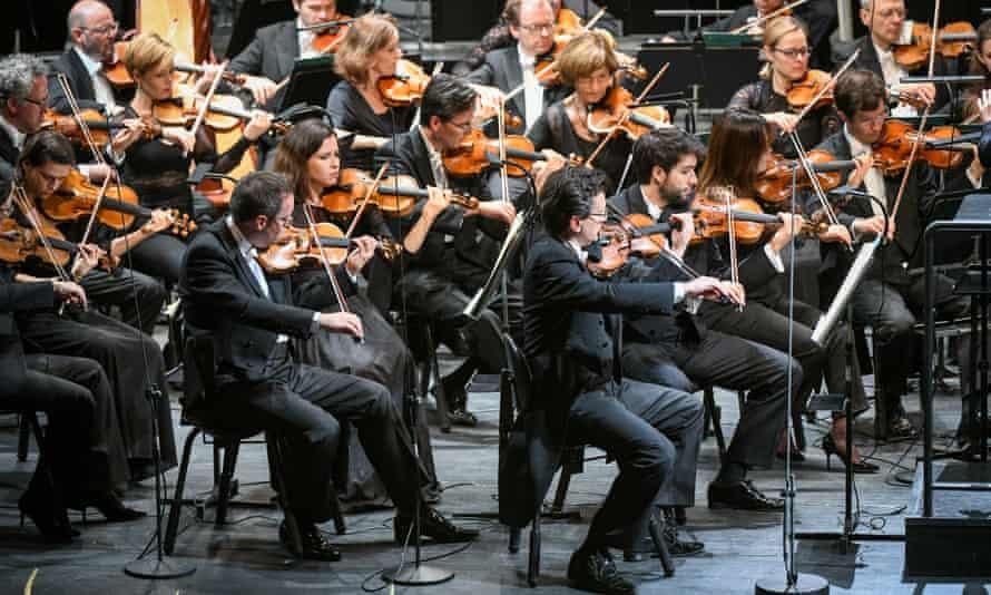 The Bavarian Radio Symphony Orchestra plays at Riga's opera house.