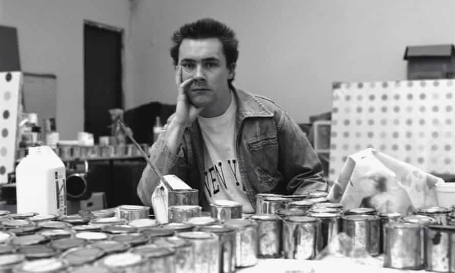 'Mr Barnes was a hoarder, he had 60 years of stuff' … Hirst in the early days.