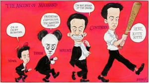 Chris Riddell on the rise and rise of the Labour leader.