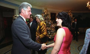 Bill Clinton and Monica Lewinsky at the White House Christmas party in 1995.