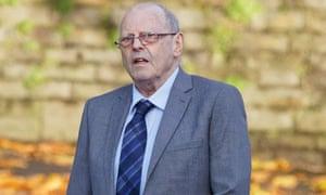 Geoffrey Bran, 71, arrives at Swansea crown court