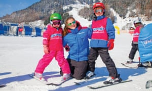 Young skiers at St Anton, Austria