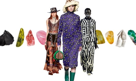 Into the mystic: (l-r) Dior's Cruise collection; M&S's bestselling constellation dress; occultish overtones in Dilara Findikoglu'sspring 2018 line