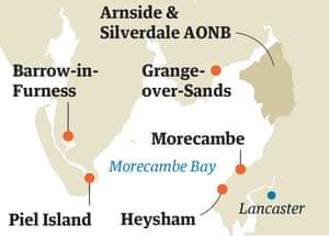 Map Morecambe Bay