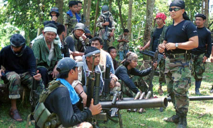Abu Sayyaf rebels in the Philippines, who have been blamed for years of kidnappings.