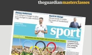 Guardian Masterclass: Getting a job in sport.
