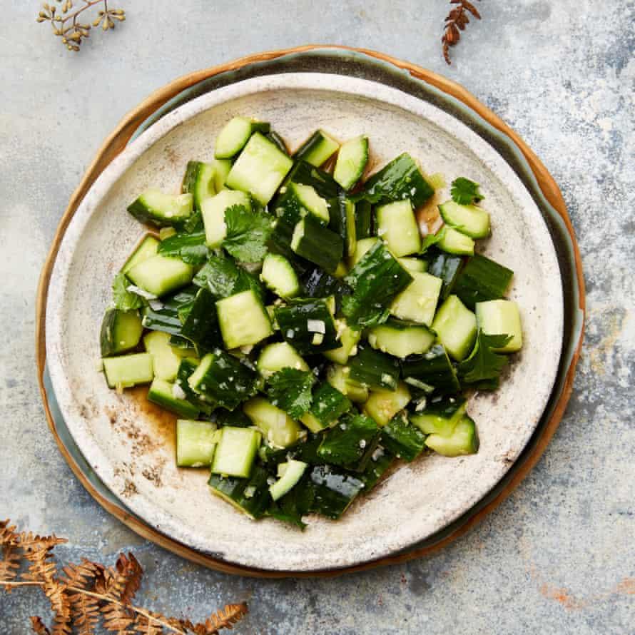 Yotam Ottolenghi's gingery cucumber salad.