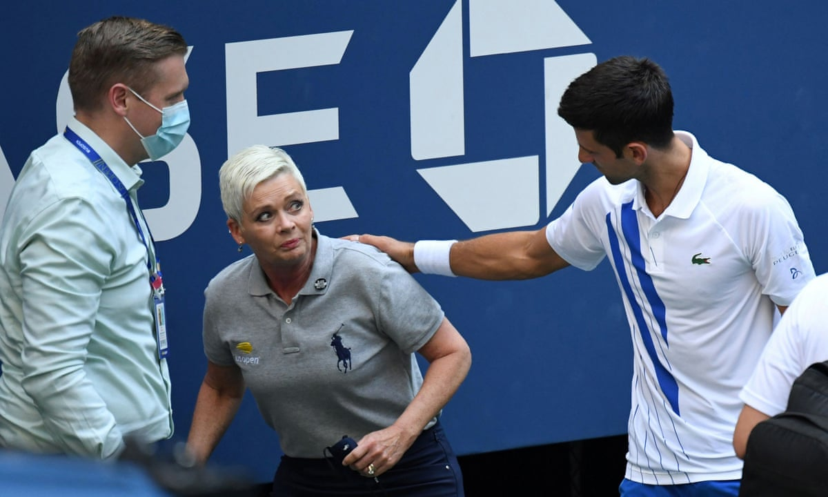 Line Judge Hit By Novak Djokovic At Us Open Receives Abuse On Social Media Sport The Guardian