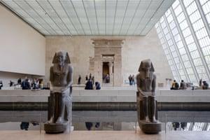 Egyptian art at the Metropolitan Museum of Art in New York City.