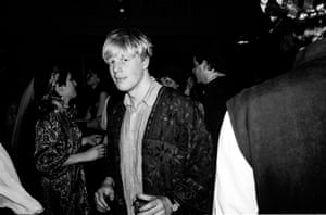 Boris Johnson at a Sultans Ball at Oxford Town Hall in March 1986.