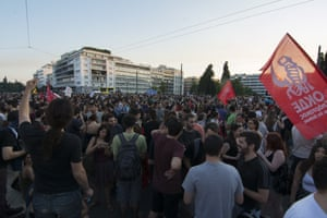 Demonstration against the bailout deal - Athens Greece<br>