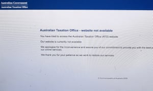 The Australian Taxation Oficce website also experiences outages in December.
