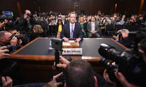 Facebook CEO Mark Zuckerberg testifies before a joint hearing of the US Senate Commerce, Science and Transportation Committee earlier this year.