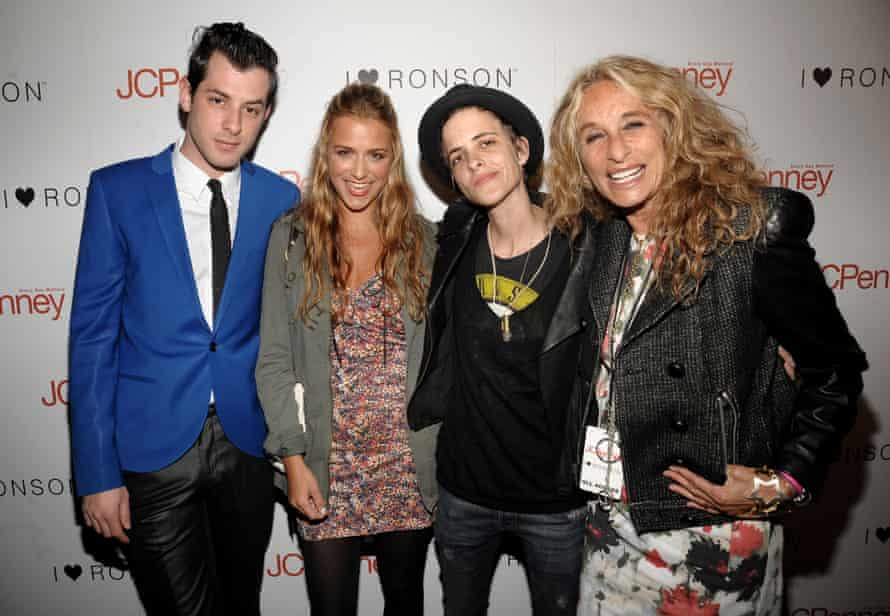 Mark Ronson with his sisters Charlotte (left) and Samantha and their mother Ann Dexter-Jones
