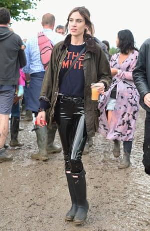 Alexa Chung at Glastonbury.