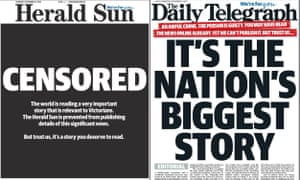 Newspaper front pages on 13 December 2018 refer to the suppression order.