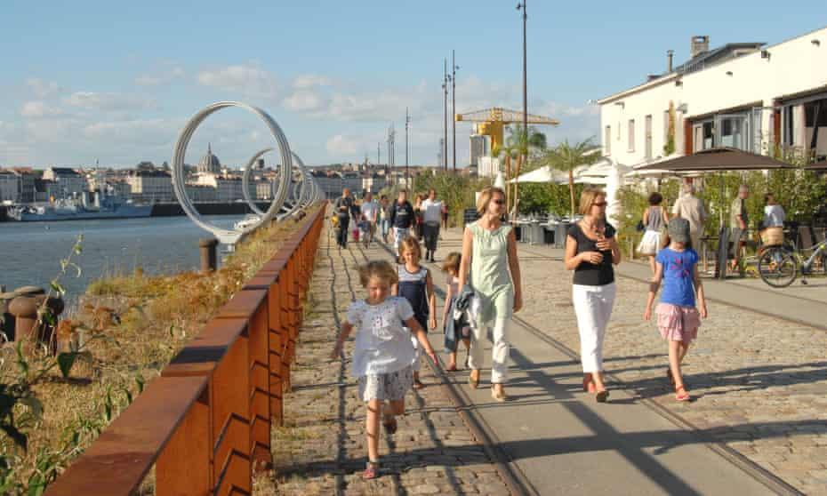 The Quai des Antilles on the Île de Nantes, a revitalised port area on a Loire island in Nantes