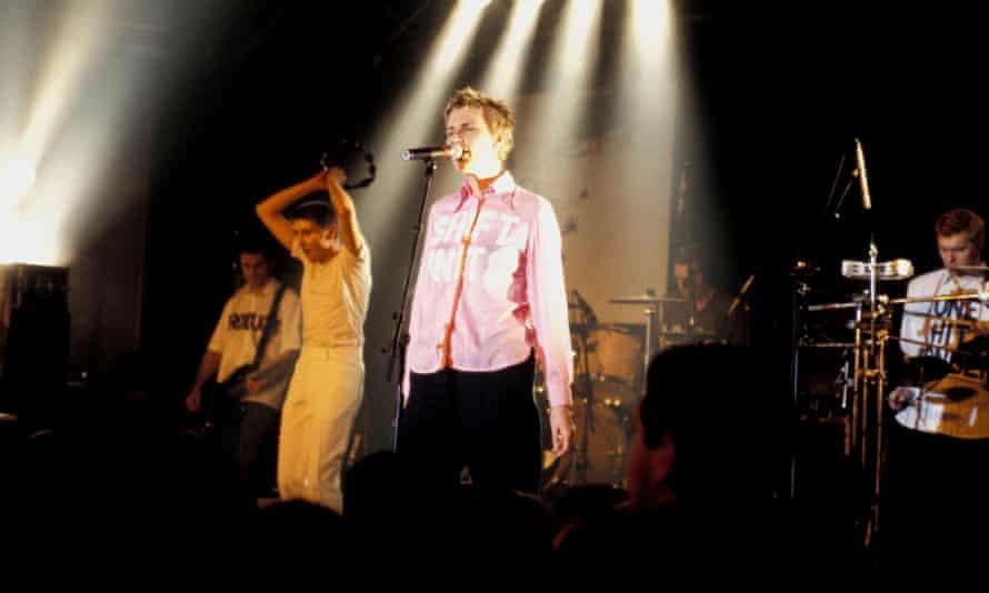Chumbawamba performing in France, c.1998.