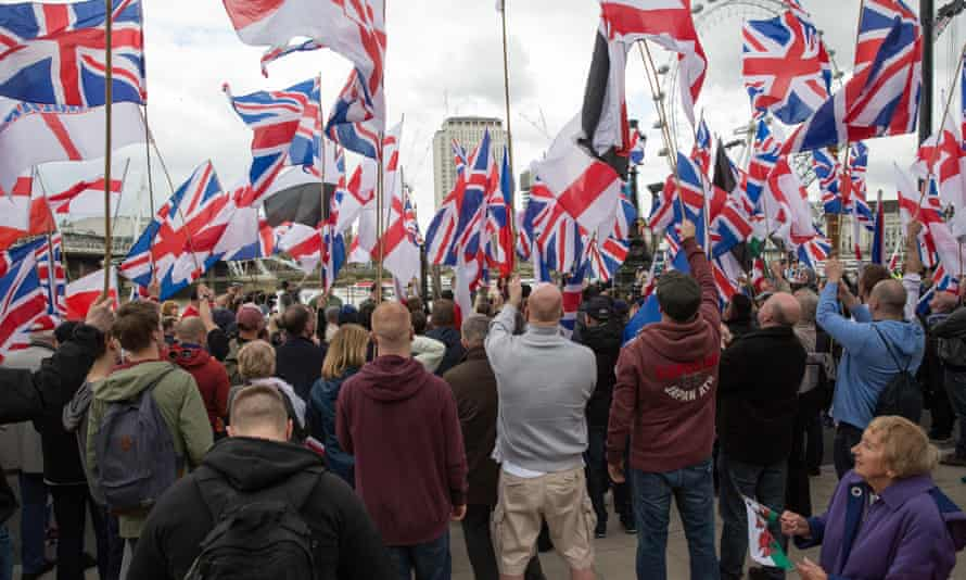 Group wave Union flags and St George's Cross flags